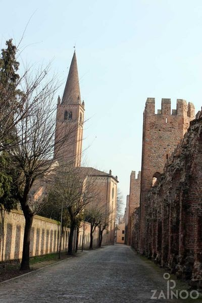 Montagnana, fortress city with intact fortifications - Euganean hills, Italy. ©ZAINOO