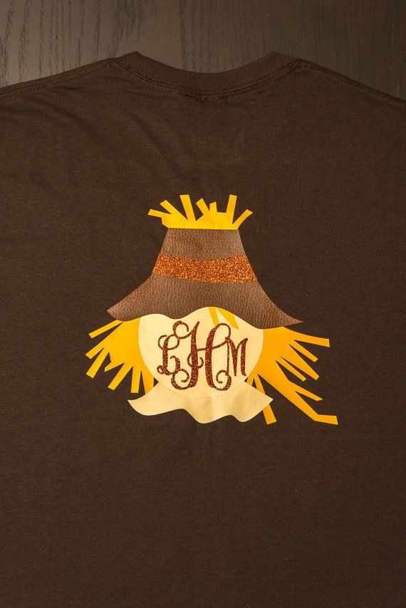 monogram scarecrow shirt  so cute for fall and thanksgiving