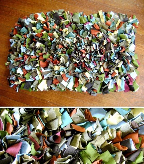 recycled Tshirt rug