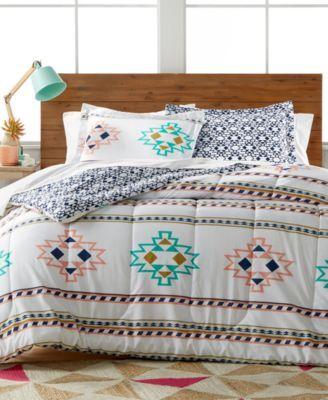 Harper 3-Pc. Reversible Full/Queen Comforter Set | macys.com