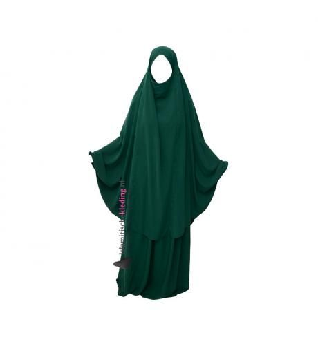 Two Piece Jilbab Forest Green