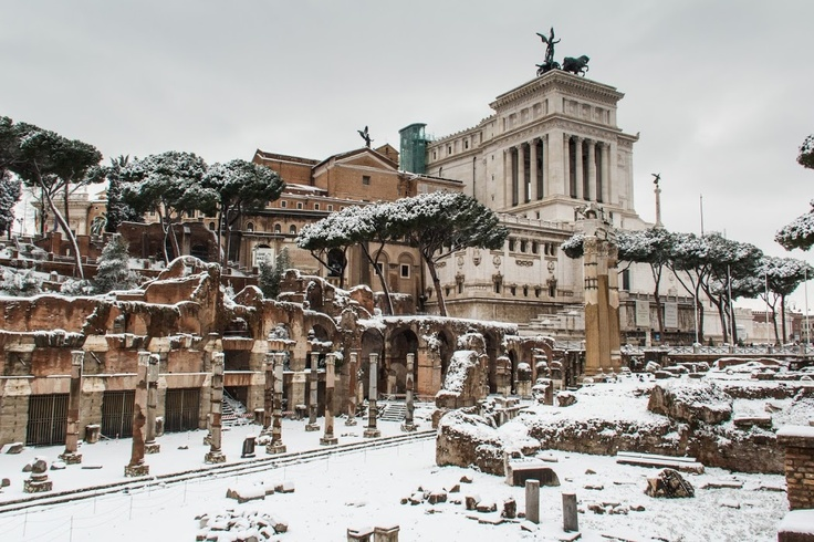 Snow in Rome, Feb 2012