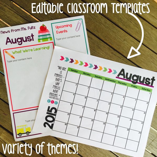 Classroom Decor Templates ~ Ideas about preschool newsletter templates on