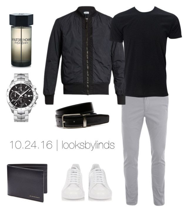 """""""10.24.16"""" by looksbylinds on Polyvore featuring STONE ISLAND, adidas, Burberry, Yves Saint Laurent, Lacoste, TAG Heuer, men's fashion and menswear"""
