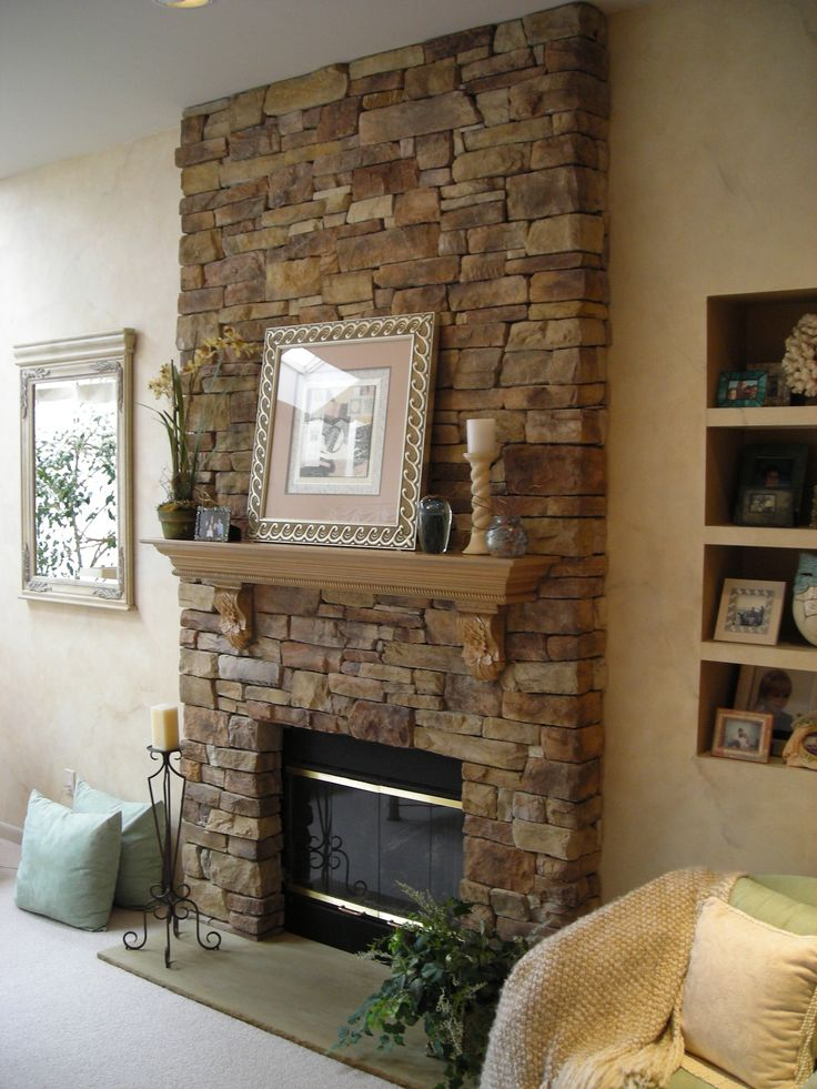 Rock Wall With Fireplace Interior Design Interior Design Ideas