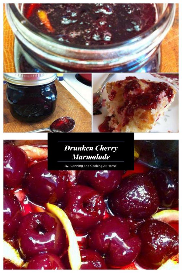 Cherries & Lemon come to play in my Drunken Cherry Marmalade