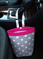 Car trash bag  Make this and a seat belt cover/cushion to match!  Ha