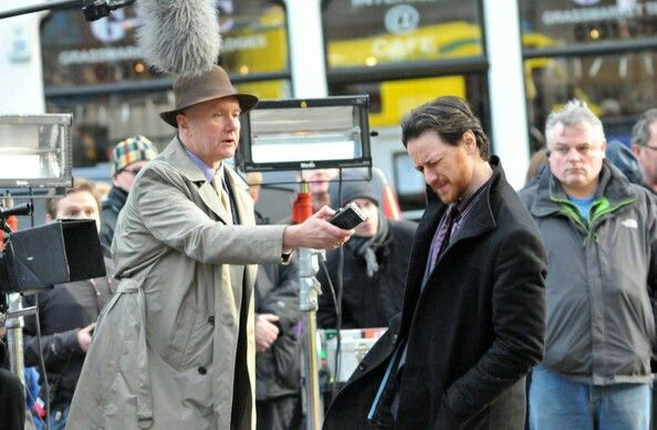 Irvine Welsh makes a cameo appearance on the film set of 'Filth'. (2012) Photo: Fame Flynet Pictures
