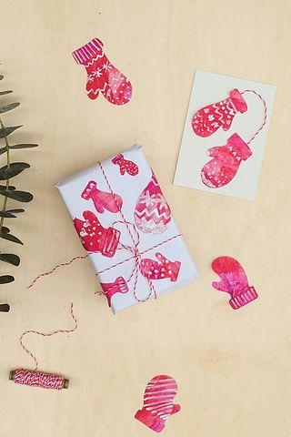 Geschenkpapier und Weihnachtskarten mit Norweger-Muster selber machen   wasfürmich   Bloglovin'