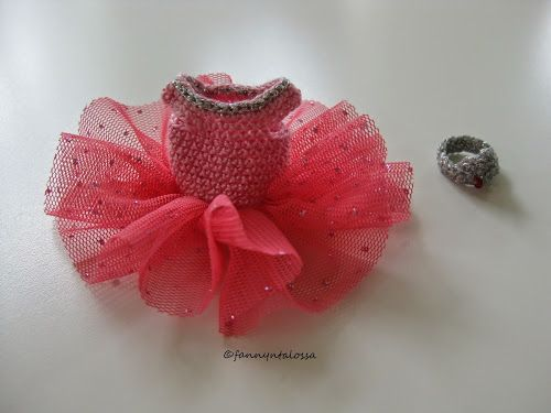 crochet ballerina tutu and tiara for dollhouse girl