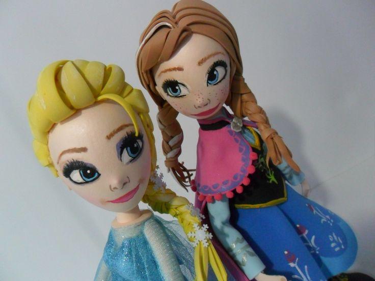 fofuchas princesas Anna y Elsa de Frozen