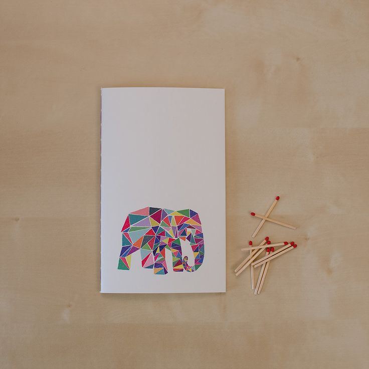 An indian elephant known as Hrundi _Hand-stitched 40 page blank notebook _Sketchy Notebooks _www.sketchynotebooks.com