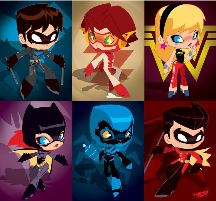 Young Justice Invasion Chibis by *KWESTONE on deviantART BLUE BEETLE IS SO CUTE!!