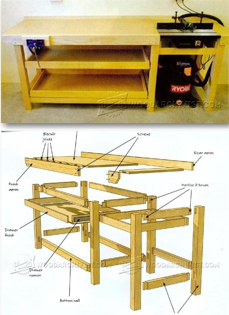 Space Saning Workbench Plans - Workshop Solutions Projects, Tips and Tricks | WoodArchivist.com