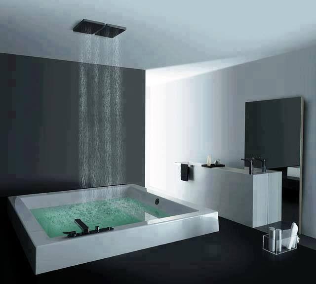 Greek bath waterfall done right