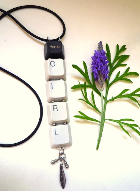 Mich L. in L.A.: Write your own jewelry! For the next broken keyboard!