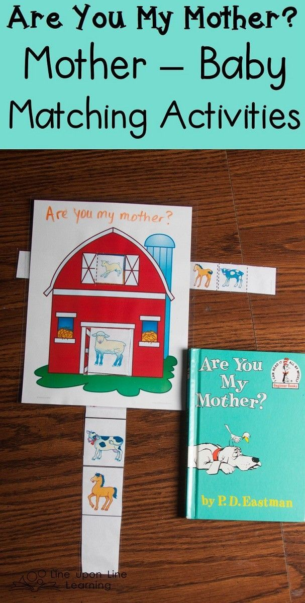 After reading Are You My Mother? we talked about farm mothers and babies and matched them.
