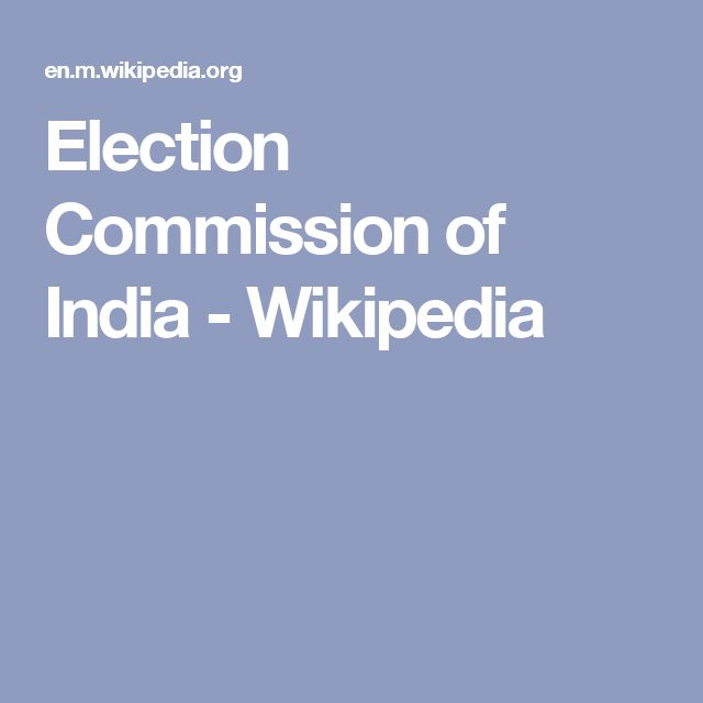 Election Commission of India - Wikipedia