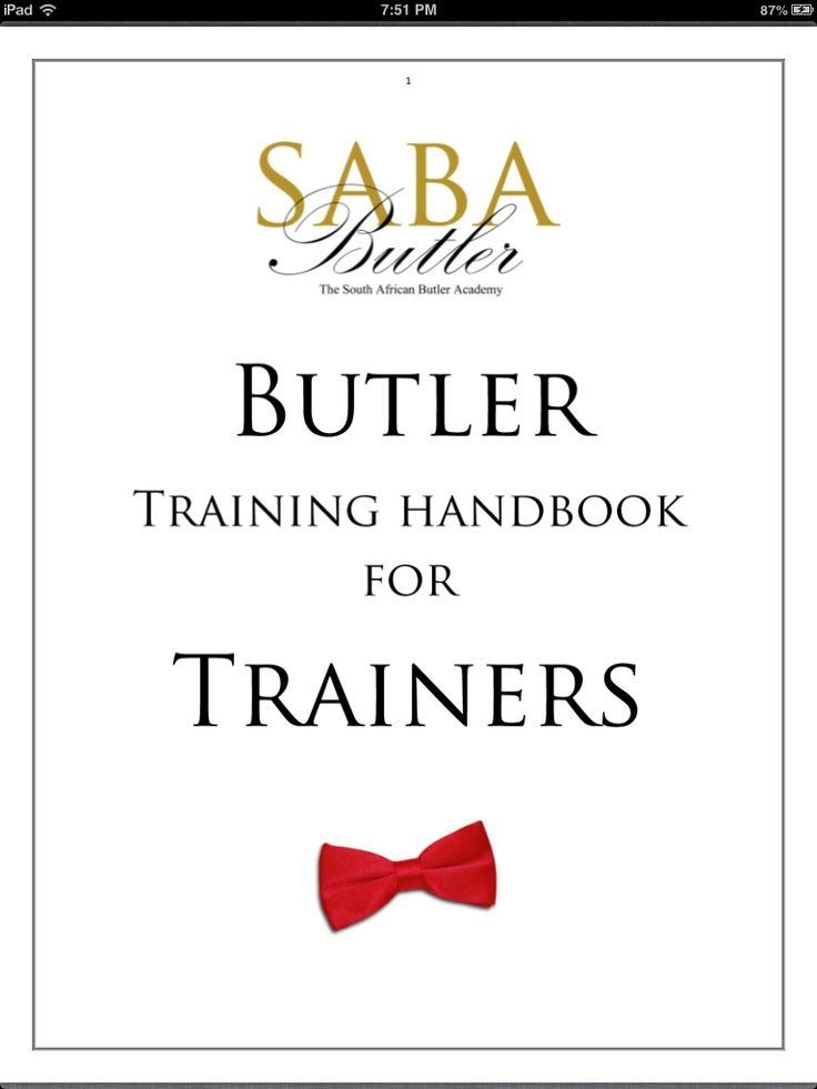 Butler Training