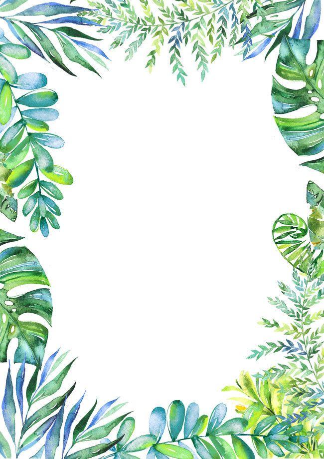 Magnifique Frais de feuilles vertes de programme d'invitation de matériau de @DI_37