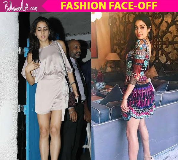 Fashion Face-Off: Jhanvi Kapoor in a dress or Sara Ali Khan in a romper? #FansnStars