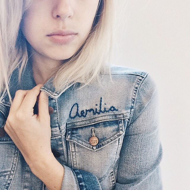 Pin for Later: 15 In-jean-ious Ways to Pimp Your Denim Jacket Personalised With Your Name