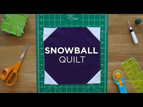 Make an Easy Snowball Quilt Block - Quilt Snips! - YouTube