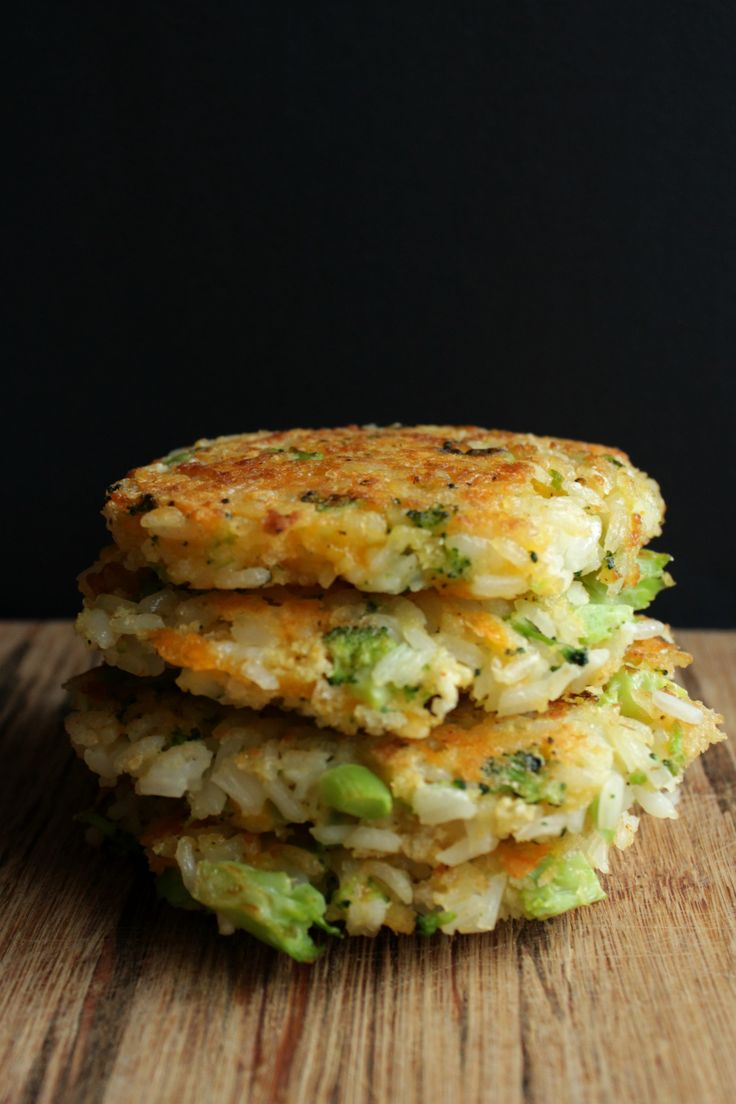 broccoli cheddar rice patties www.petitfoodie.com