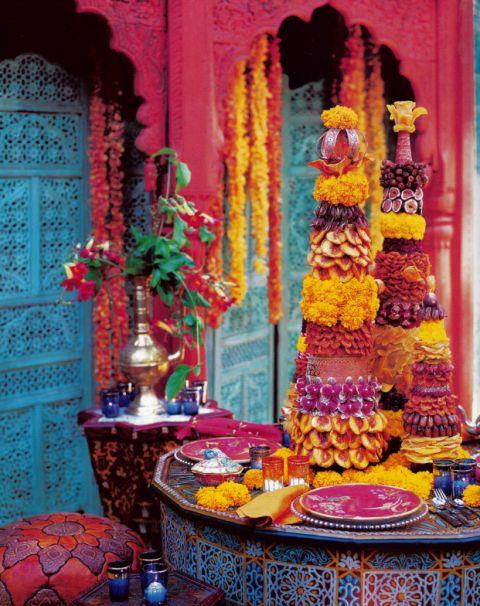 Marigold, rose foncé, bleu clair - ce un combo de couleur!