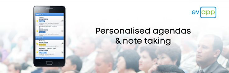 Attendees can create their own personalised agenda by simply selecting the star next to each session that they wish to attend.