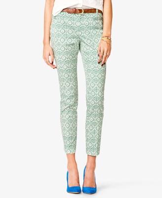 Batik-print cropped pants - $22