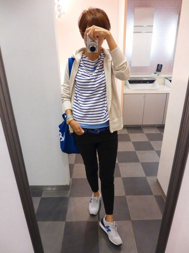 今日はブルーが主役!!  Parker/Gymphlex. Tops/JOURNAL STANDARD Bottoms/UNIQLO Bag/CLASKA Shose/NB  Blue is the coordination of the leading role.