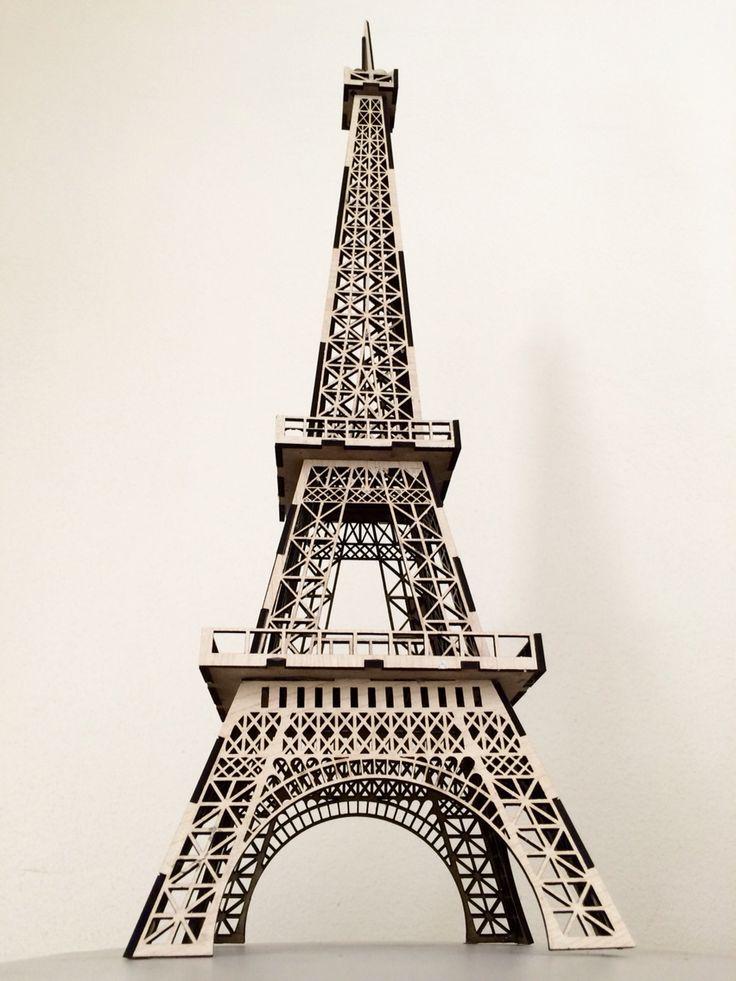 LaserCut MDF Eiffel Tower Model Full Details