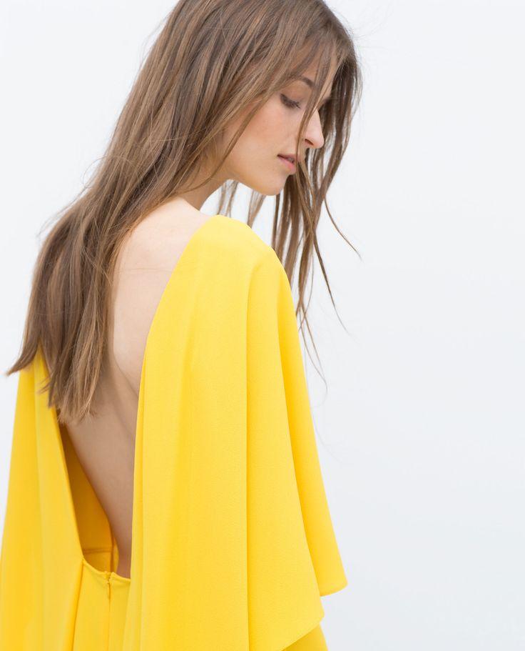 robe cape mini robes femme zara france satin jaune voile violet xoxodior pinterest. Black Bedroom Furniture Sets. Home Design Ideas