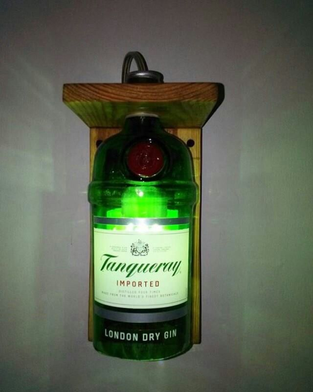 #bottle #lamp #tanqueray
