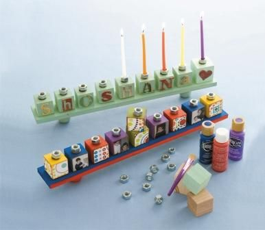 Crafting Jewish Style: Day 4: Homemade Hanukkah Menorahs