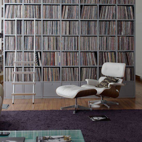 Eames Lounge Chair Amp Vinyl Record Shelve Living Rooms