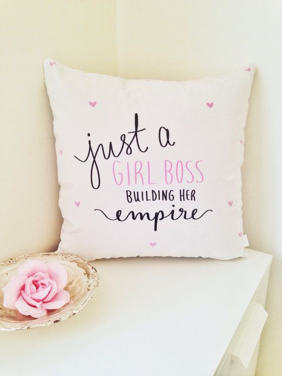 Just a #girlboss Building Her Empire pillow cover by daynaleecollection
