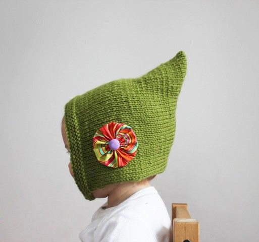 81 best baby hats knit pixie images on pinterest baby knitting iddy biddy pixie bonnet spring green vintage inspired baby or toddler cap with flower on the side dt1010fo