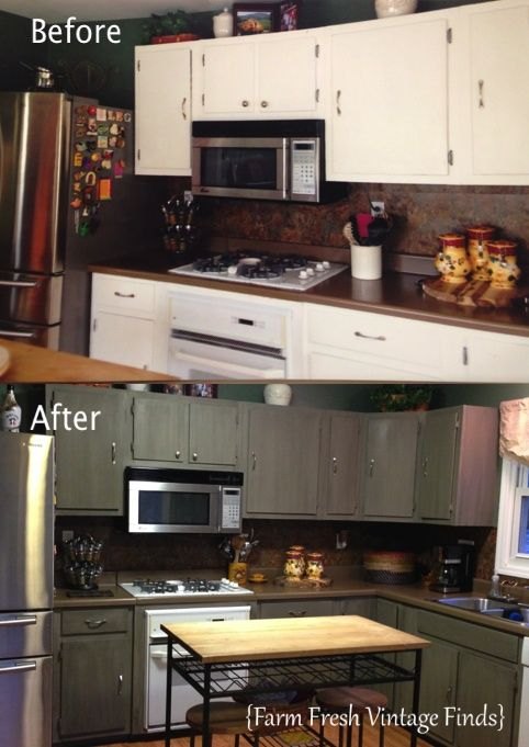 130 best Annie Sloan Chalk Painted Kitchens images on Pinterest how to paint and update kitchen cabinets with Annie Sloan chalk paint and  glaze. Chalk Paint Kitchen Cabinets Before And After. Home Design Ideas