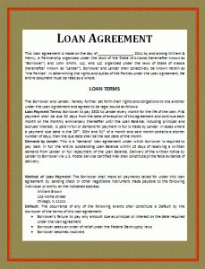 Fixed Loan Contract Template