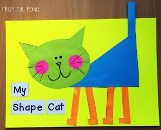 More 2D Shape Animal Crafts + A Fox Freebie!