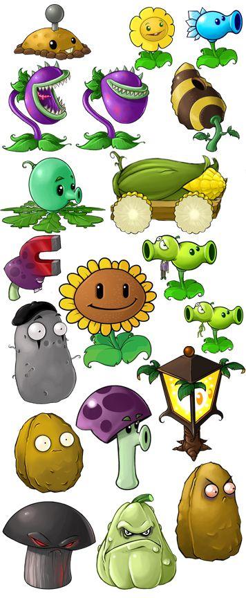 Plants vs. Zombie art