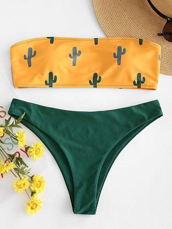 ZAFUL Bikini a fascia da donna Tie Cutout