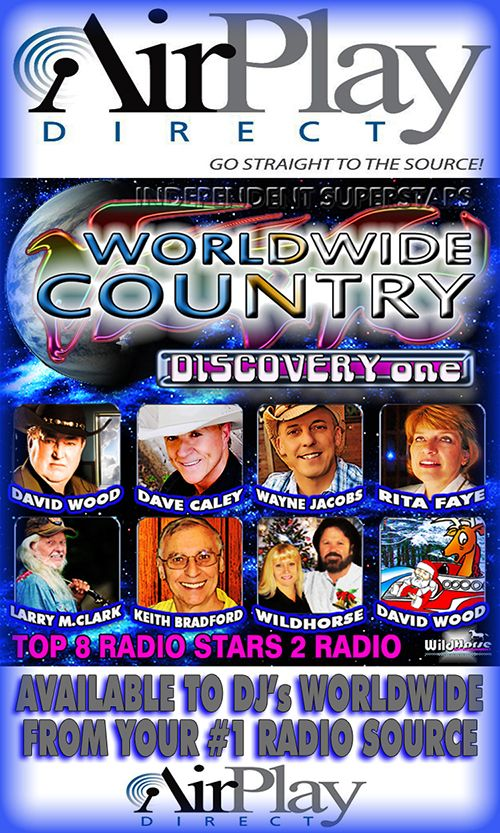 AirplayDirect For DJ's Only......... DJ's worldwide please click on this link to download 8 great new songs for your radio playlist consideration. Thank you we come in peace and hope to leave as friends. http://www.airplaydirect.com/music/worldwidecountrydiscovery1/