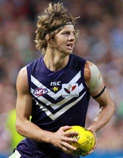 Young gun Nathan Fyfe for the Fremantle Dockers.