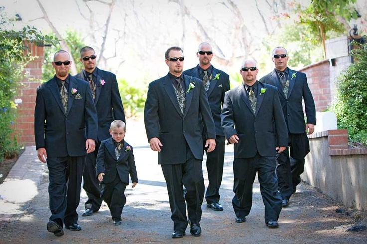 camo groomsmen   Even the ring bearer was a tough guy. This could be happening....