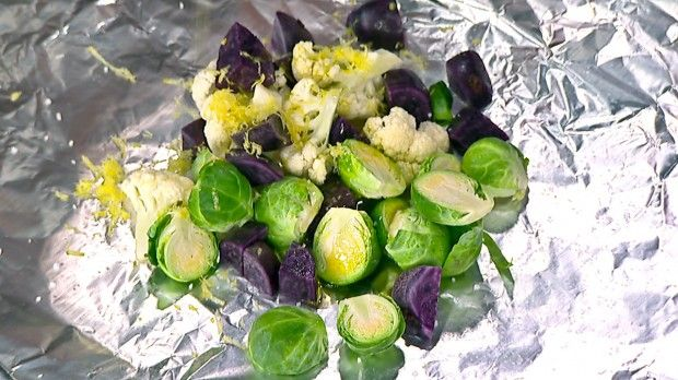 Veggie Trio Roasted in Foil | Steven and Chris | Barbecuing doesn't mean leaving out the healthy stuff! Make delicious BBQ vegetables with this simple recipe.