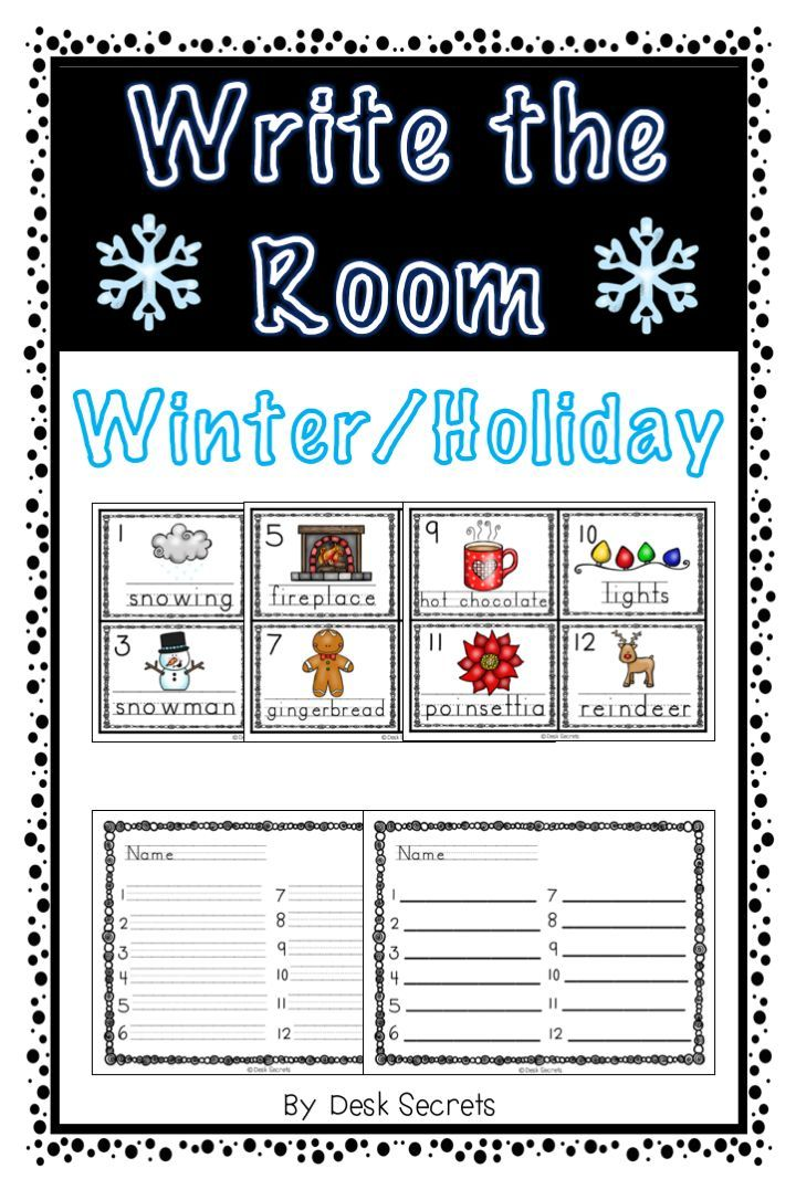 Write the Room - Winter/ Holiday | First Grade Centers