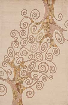 Trees Ivory Nw116ivy Art Nouveau Or Deco Rug Fun Style